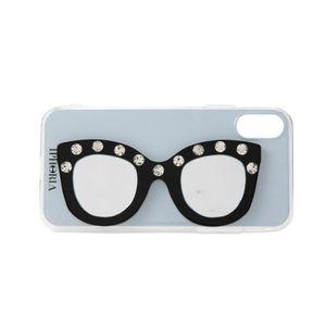〈タイムセール〉【IPHORIA】iPhoneケース(iPhoneX/XS対応) -Silver Stripe Love With Glasses-