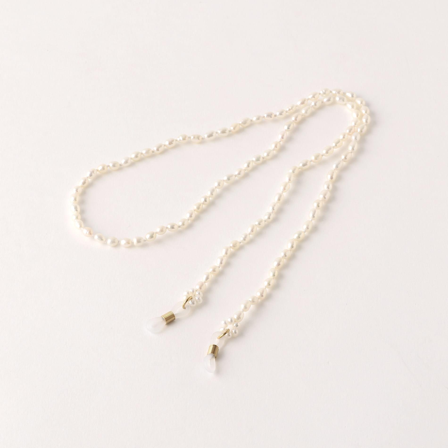 【LUCY FOLK】WOMEN メガネチェーン Eyewear Chains Pearl LFEC0002-A