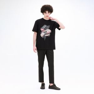 【Education from Youngmachines】コラージュプリント Tシャツ