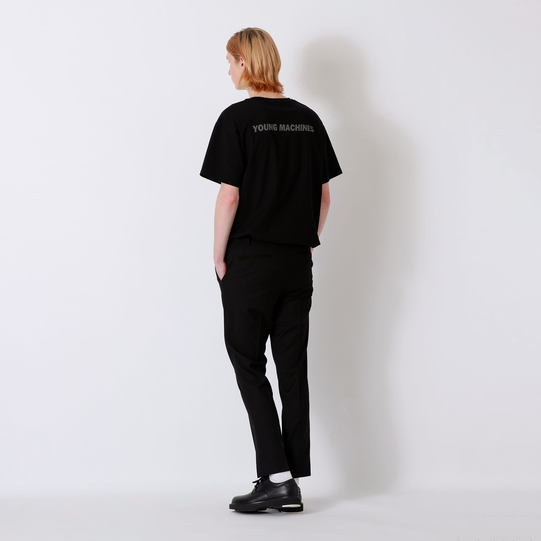 【Education from Youngmachines】バックリフレクターロゴ チェーンTシャツ