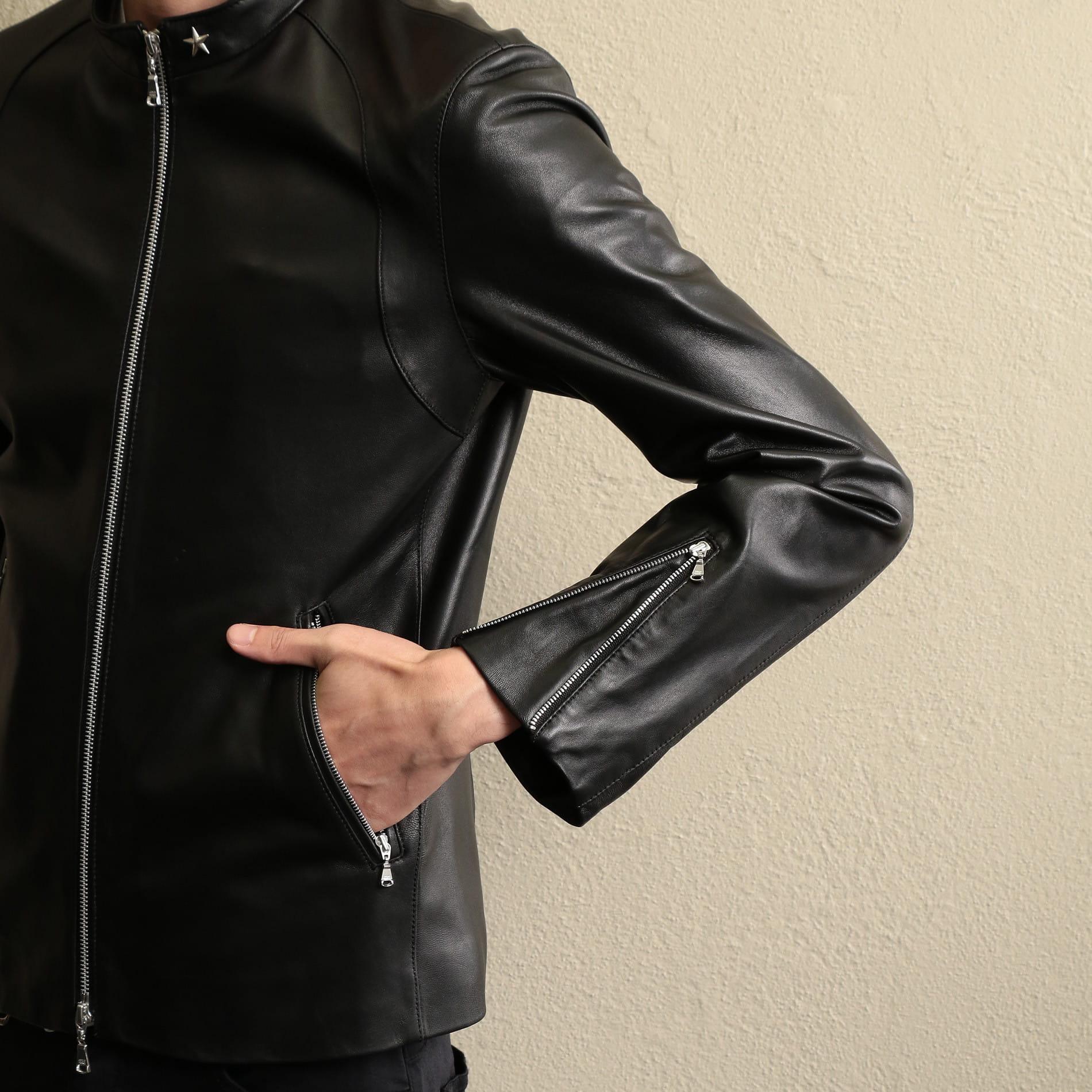 【GUILD PRIME】MEN スターポイントレザージャケット