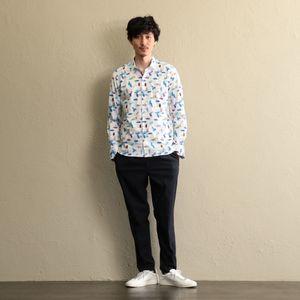 〈タイムセール〉【GUILD PRIME】MEN Italianマルチペイントシャツ