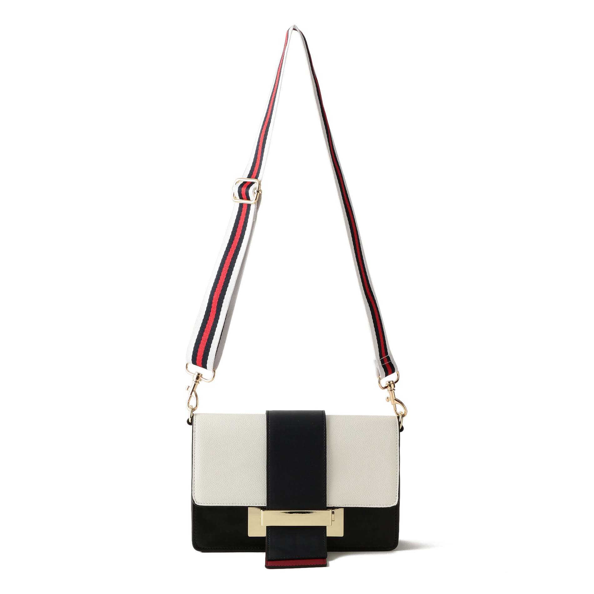 【GUILD PRIME】WOMEN カラーブロッキングワイドベルトショルダーバッグ