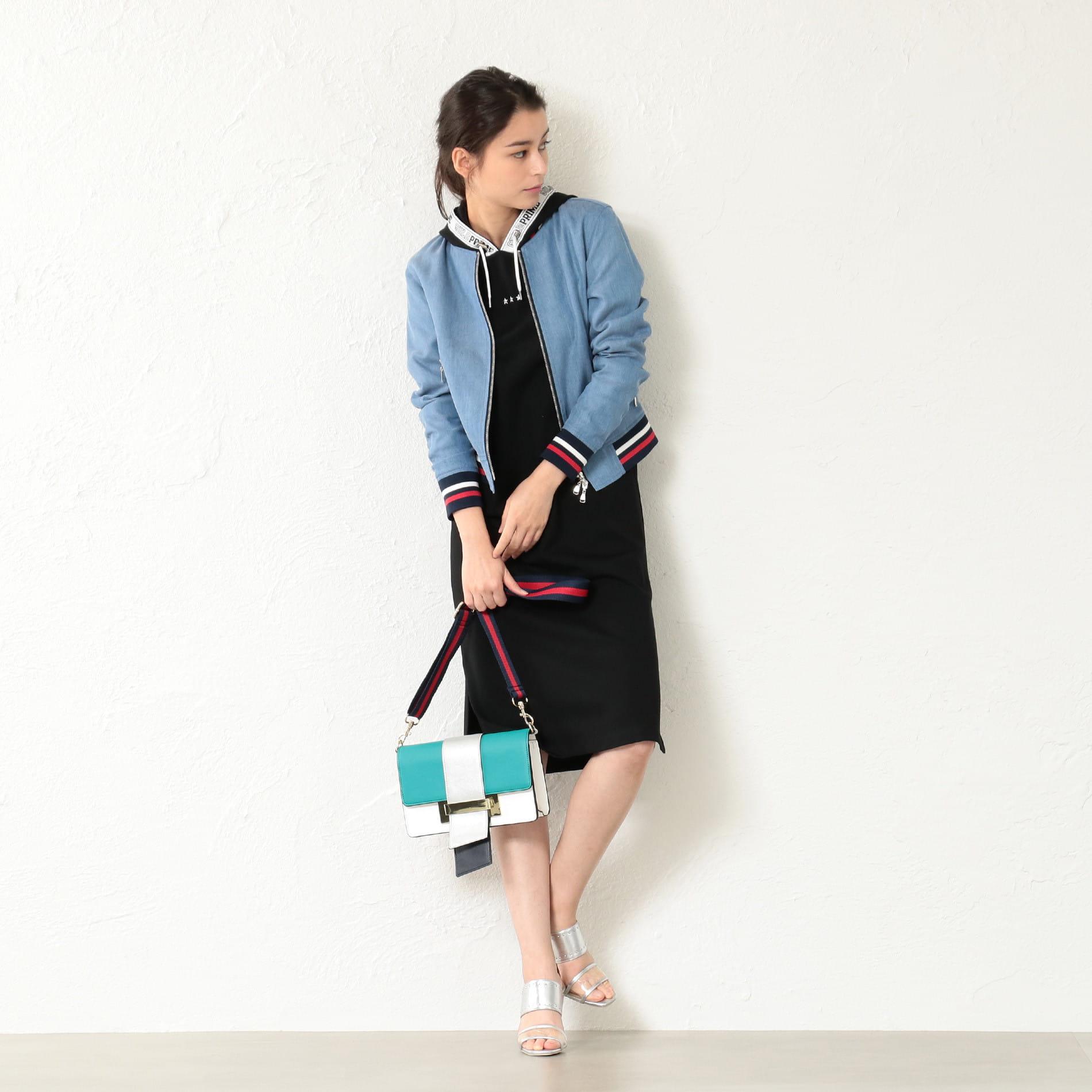 【GUILD PRIME】WOMEN ロゴラインドレス