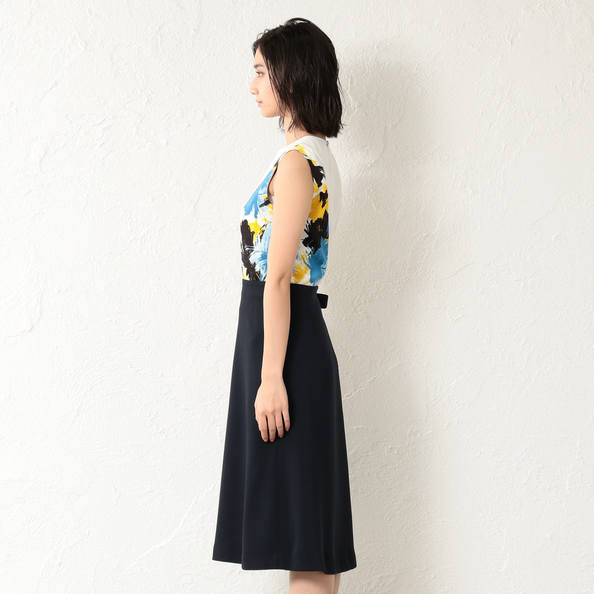 【GUILD PRIME】WOMEN カラーブロックドレス
