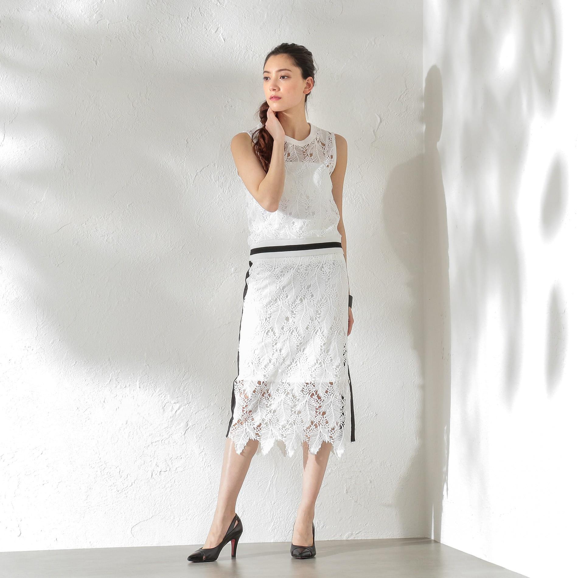 【GUILD PRIME】WOMEN レーススカート
