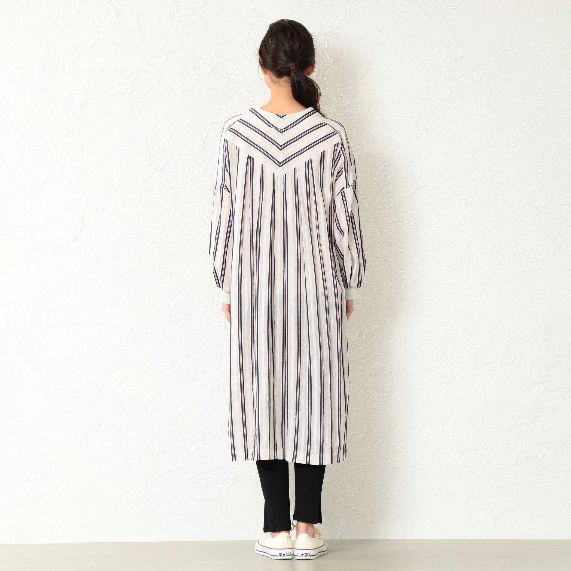 【Frei EA】WOMEN スキッパーロングシャツドレス