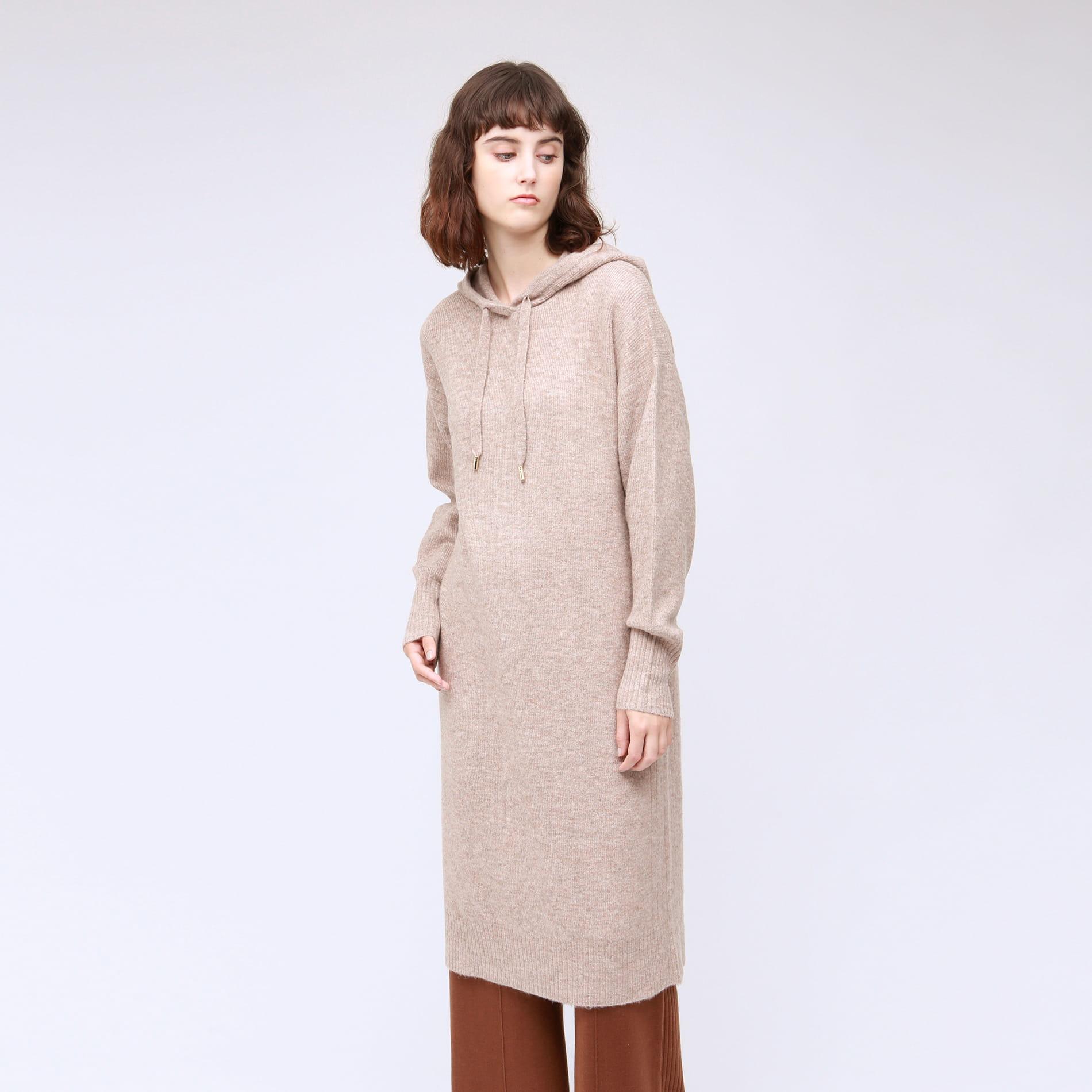 パーカー ニット ドレス