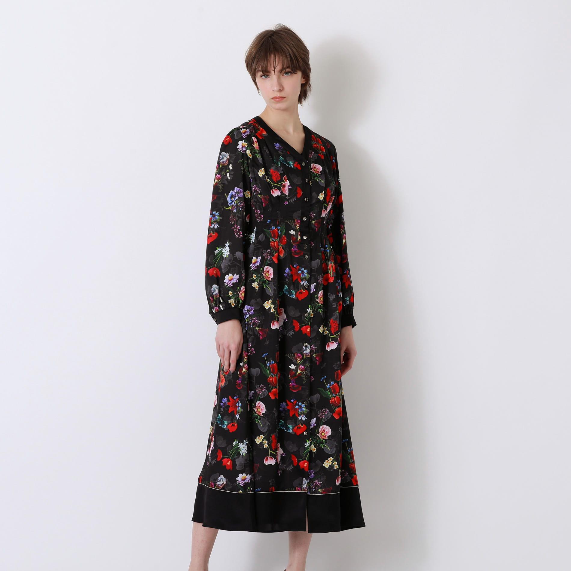 【返品送料無料】nowartt コンビ マキシ ドレス