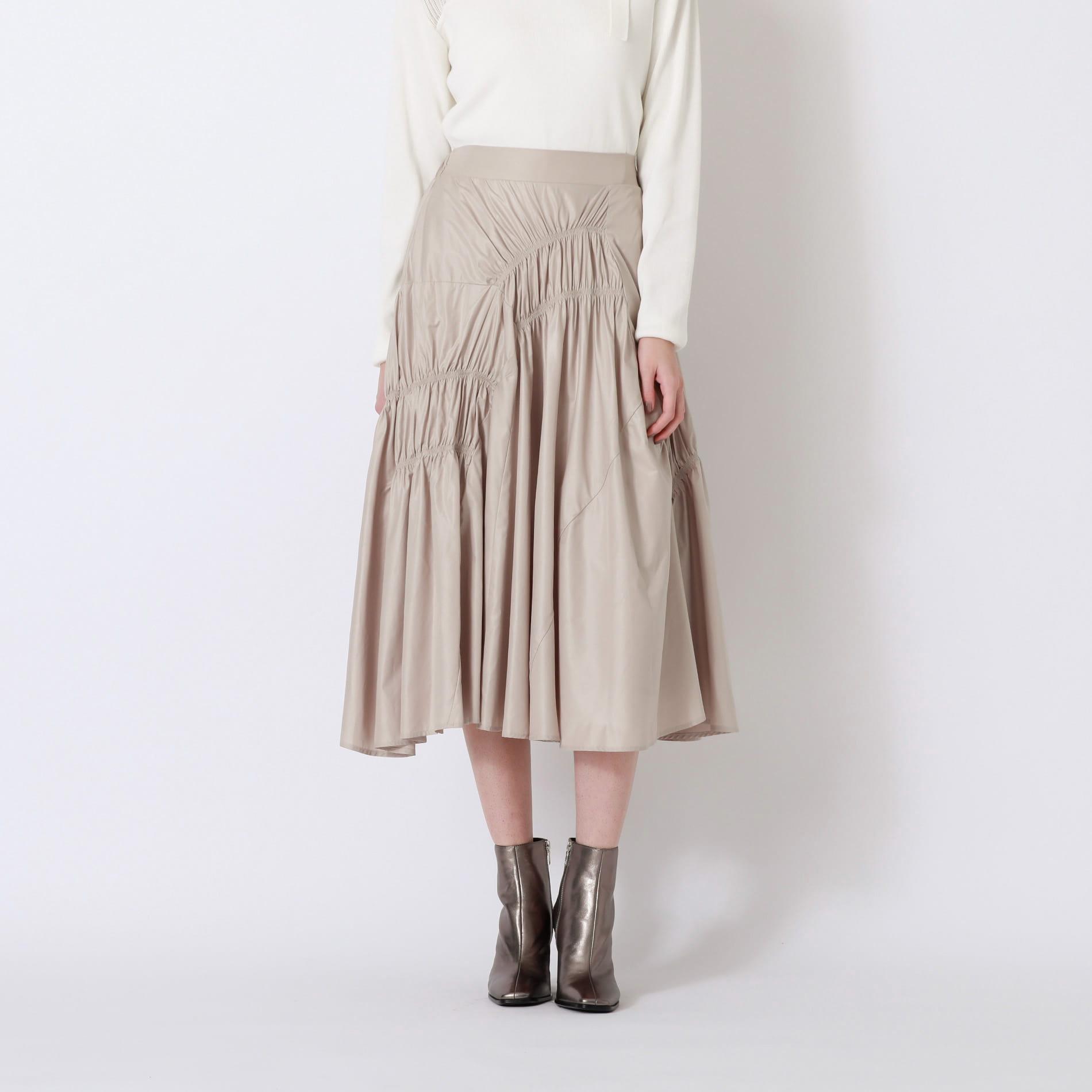 【予約販売】ギャザー タフタ スカート
