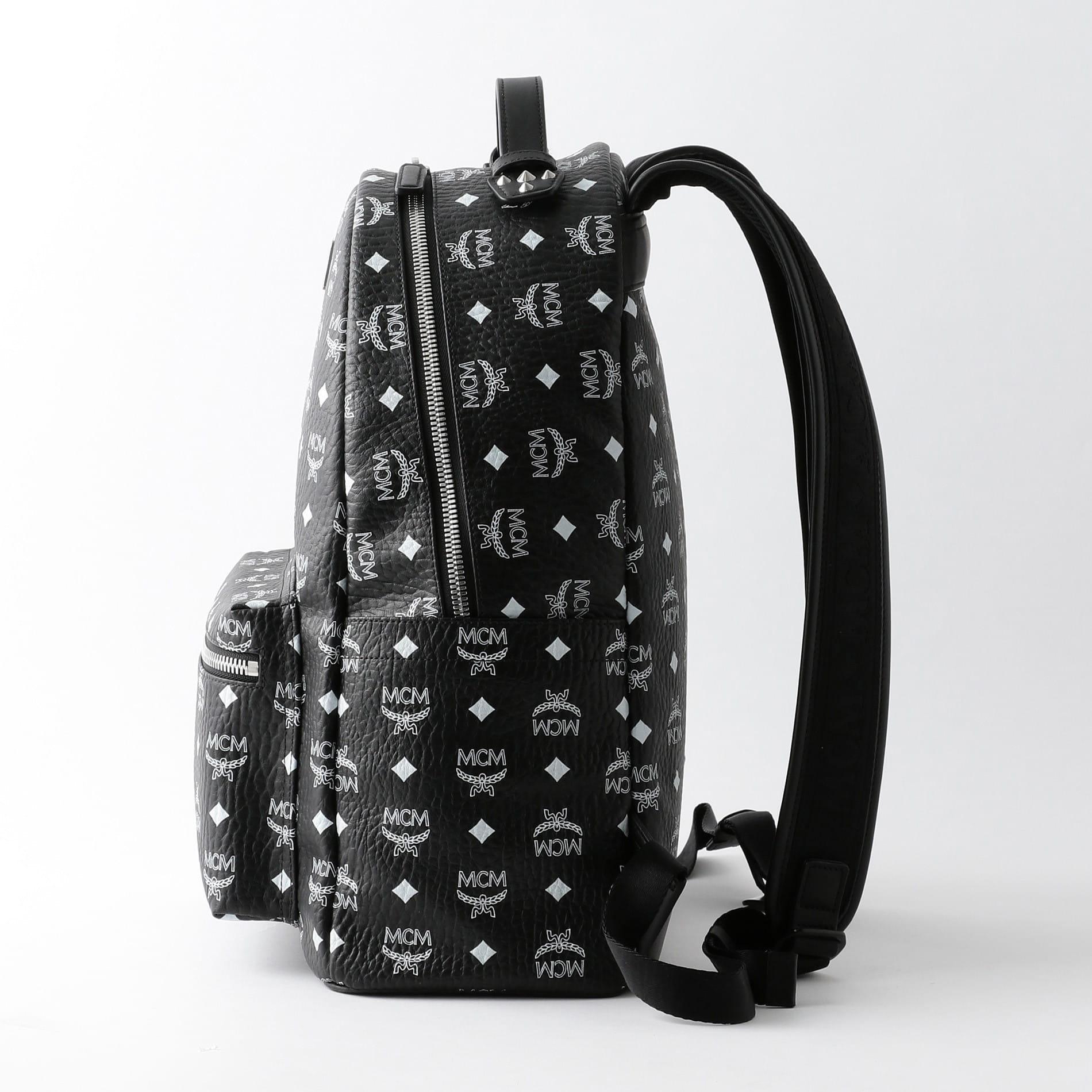 newest collection 38b16 4f1c2 MCM】バックパック -MEDIUM-STARK WHITE LOGO VISETOS ...