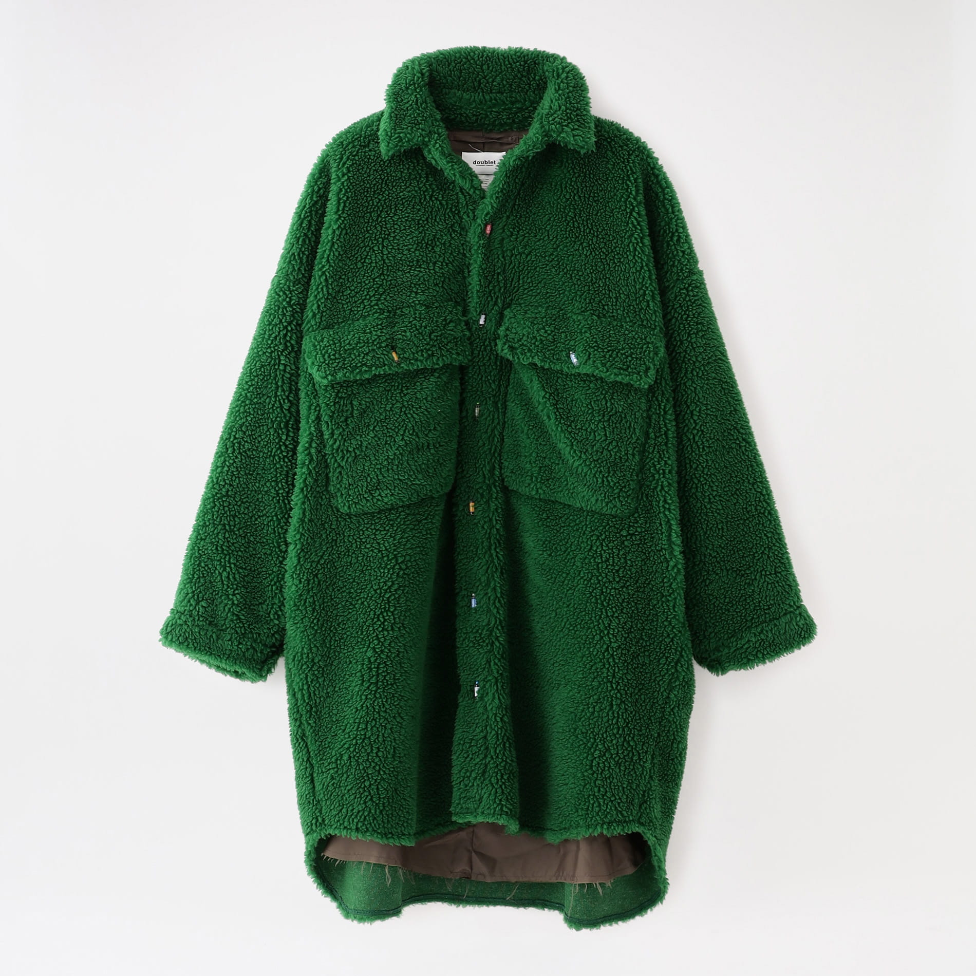 【doublet】MEN ジャケット RECYCLE FUR OVERSIZED SHIRT 21AW04CO45