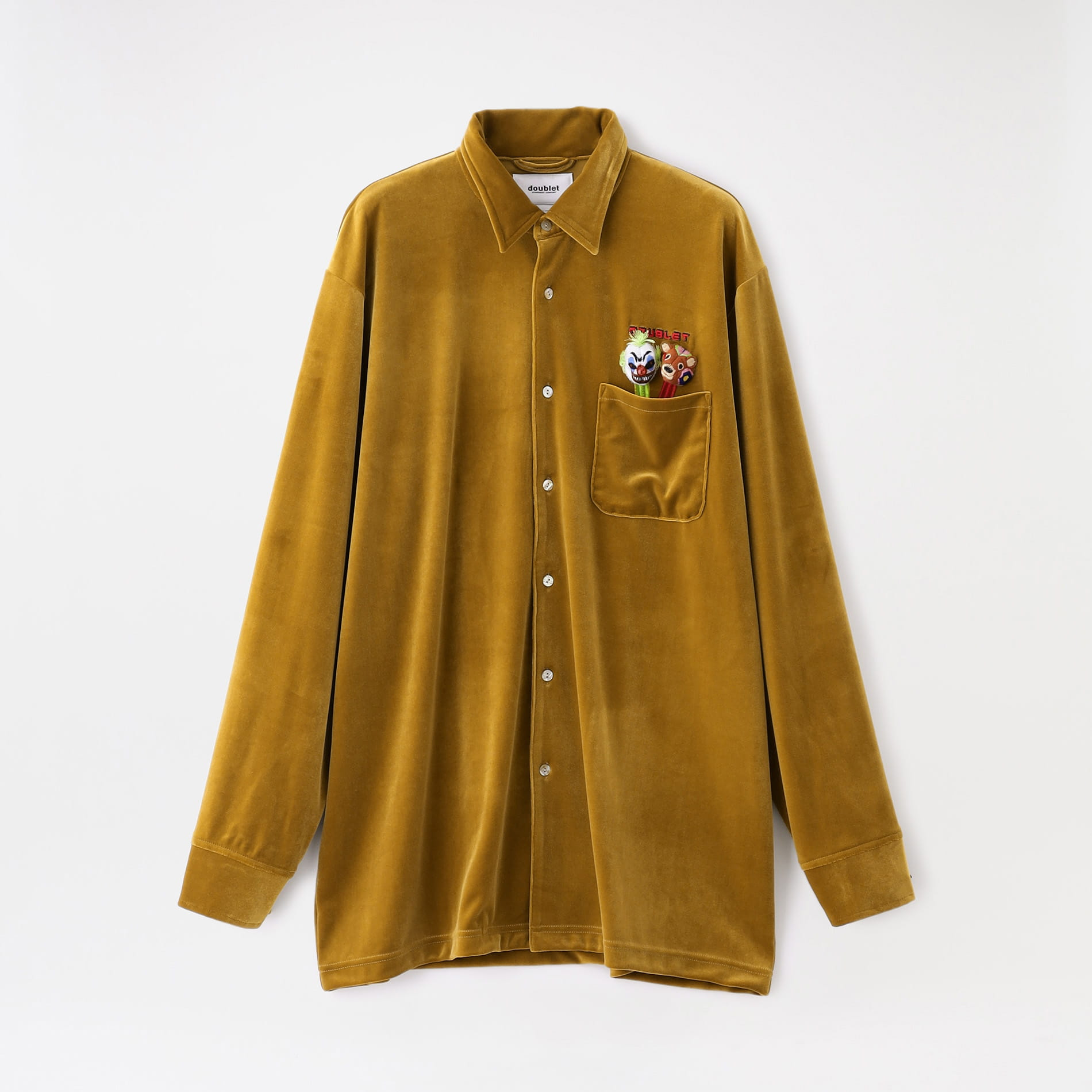 【doublet】MEN シャツ PUPPET EMBROIDERY VELOUR SHIRTS 21AW16SH98