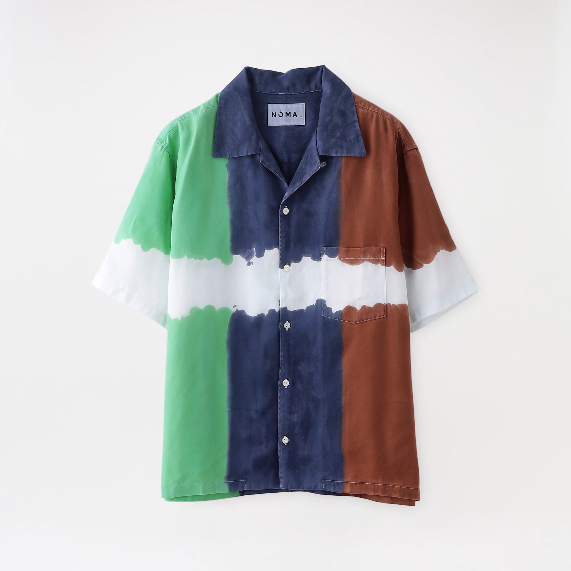 【NOMA t.d.】MEN シャツ 3-dye SS Shirt-Nature SH 01