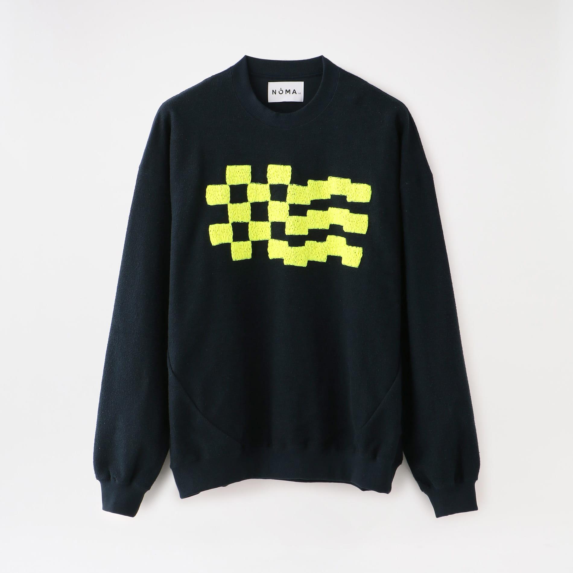 【NOMA t.d.】MEN Checker Emb. Sweat CS02