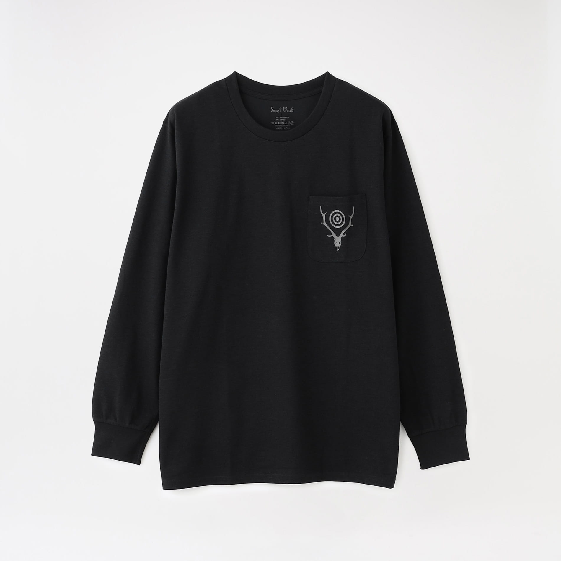 【South2 West8】MEN L/S Round Pocket Tee - Circle Horn JO856
