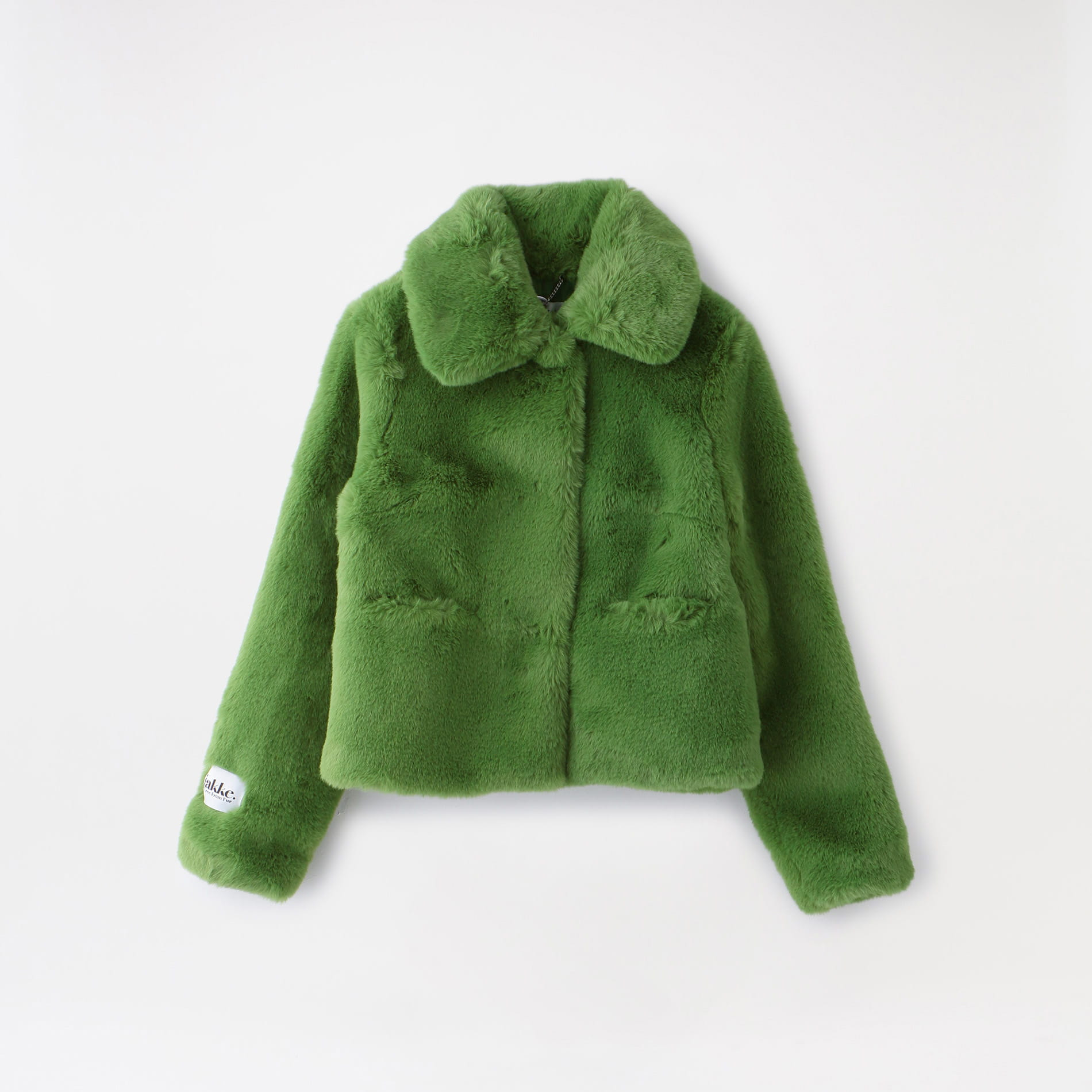 【jakke.】WOMEN FAUX FUR CROPPED JACKET TOMMY
