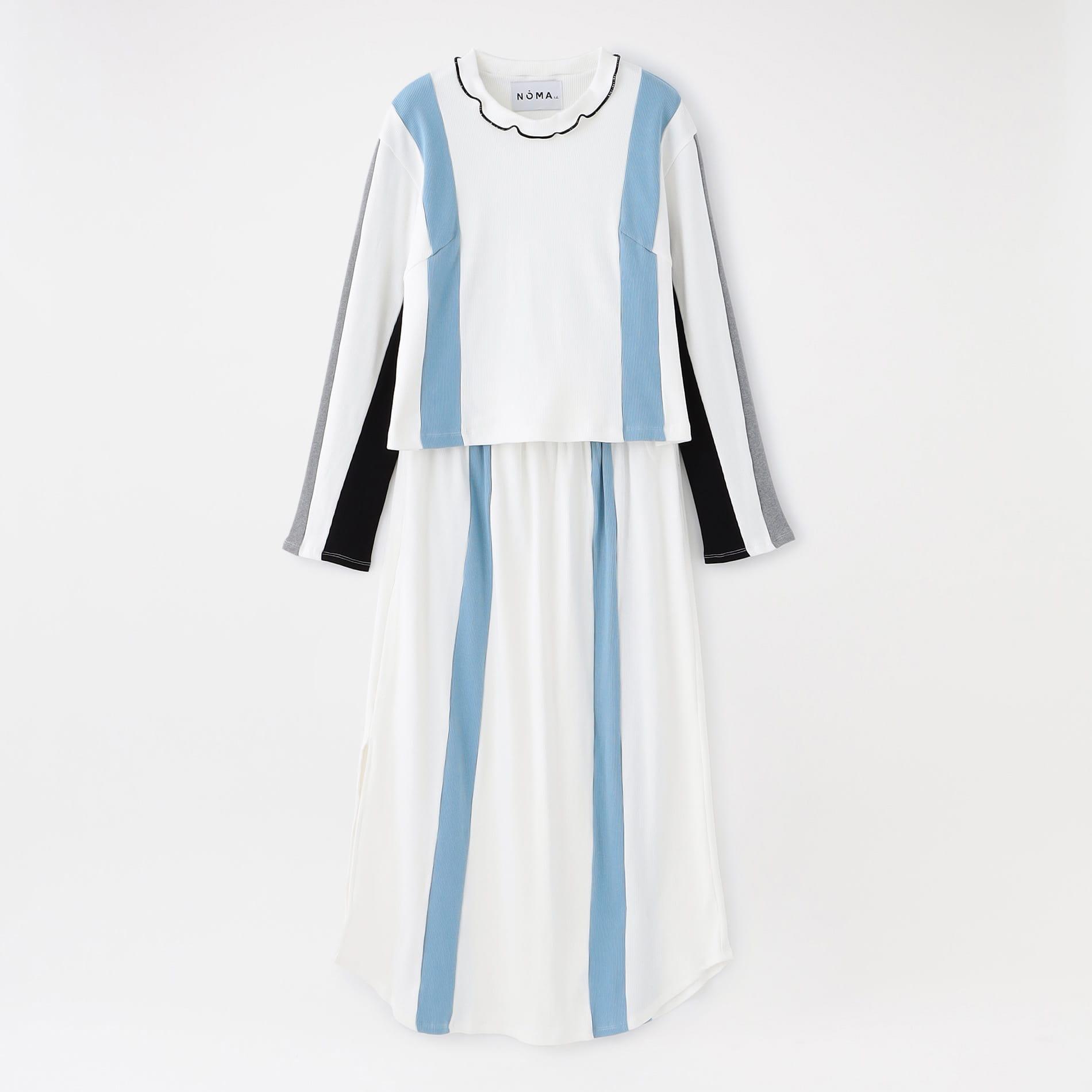 【NOMA t.d.】WOMEN トップス&スカート Color Block Ribbed Top & Skirt SE 01