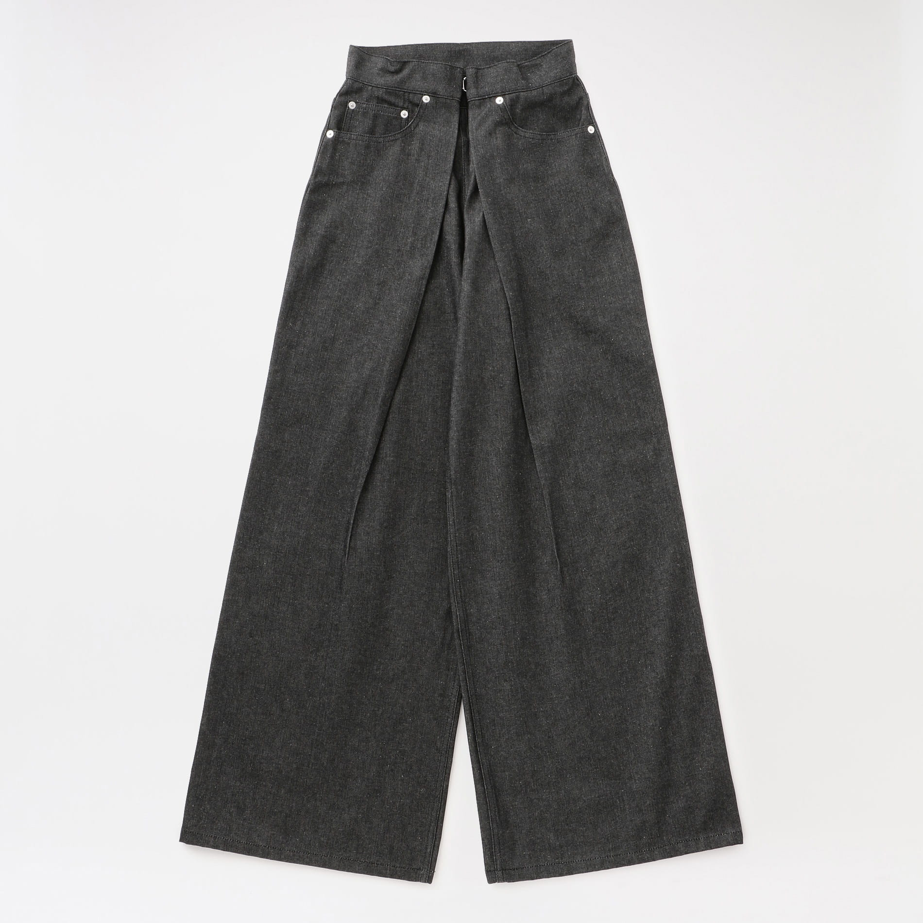 【JOHN LAWRENCE SULLIVAN】WOMEN Rigid Denim Wide Pants JLSW-01-S